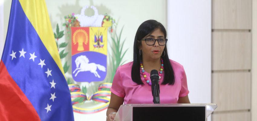 Delcy Rodríguez anunció la ocupación de Coposa
